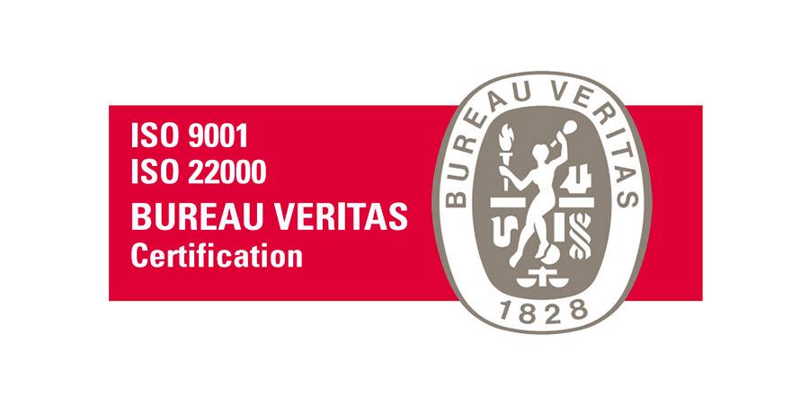 Certificazione ISO 9001 e ISO 22000
